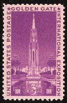 852 Golden Gate Exposition F-VF MNH single