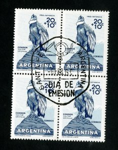 Argentina Stamps VF Bird Block of 4 Specialty Cancel Used