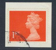 Great Britain SG 1789  Used on booklet piece