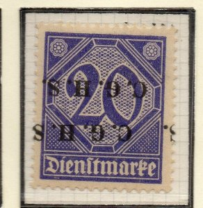 German Occ Upper Silesia 1920-21 Issue Fine Mint Hinged 20pf. Optd NW-58345