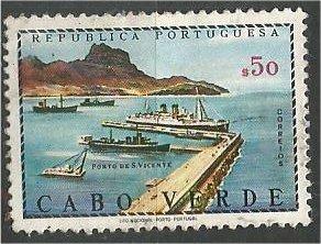 CAPE VERDE, 1968, MH 50c, Harbor  Scott 345