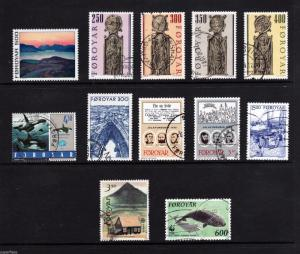 SUPERFLEAS Foroyar Faroe Islands used stamps  102-05 292 210 340 183 125 Cv$21