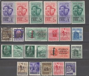 COLLECTION LOT # 3721 ITALIAN SOCIAL REPUBLIC 21 STAMPS 1944 CLEARANCE