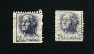 USA # 1213,1229   2 used 1962-66 PD .16
