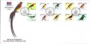 Zimbabwe, Birds, Worldwide First Day Cover