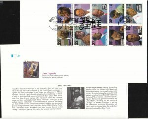 1995 American Music Jazz Sc 2992a first day cover Fleetwood jumbo