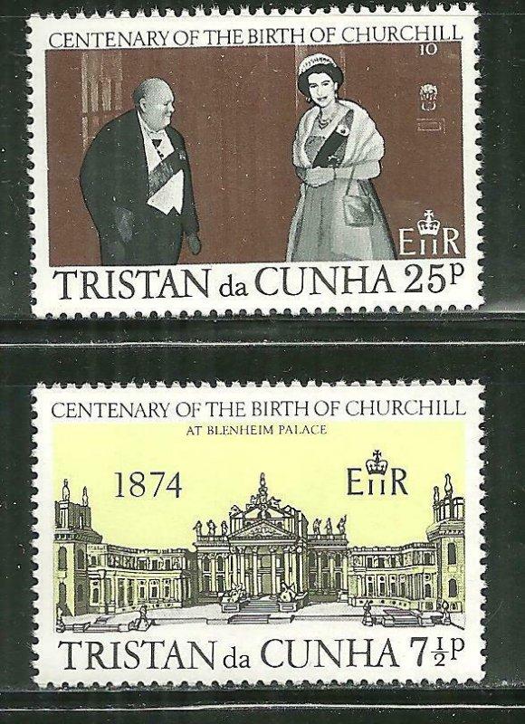 Tristan da Cunha MNH 196-7 Winston Churchill