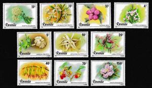 Rwanda Flowers 10v SG#1023-1032 MI#1093-1102 SC#1009-1018