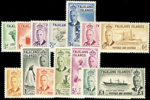 FALKLAND ISLANDS SG172-185, COMPLETE SET, LH MINT. Cat £180.
