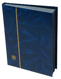 Lighthouse Stockbook, 32 Black Pages, Blue Cover, 01346