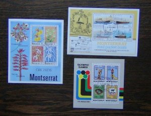 Montserrat 1984 Packet Boats Olympics 1985 Orchids Miniature Sheet Used