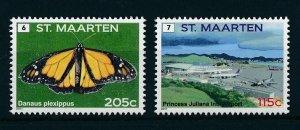 [SM045] St. Martin Maarten 2011 Definitives Butterflies MNH