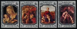 St Helena 515-8 MNH Christmas, Paintings, Madonna, Holy Family