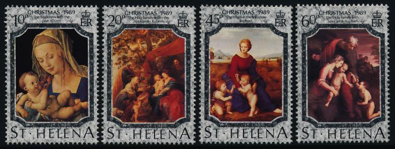 St Helena 515-8 MNH Christmas, Paintings, Madonna, Holy Family