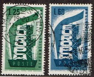 Italy # 715 - 716  Used