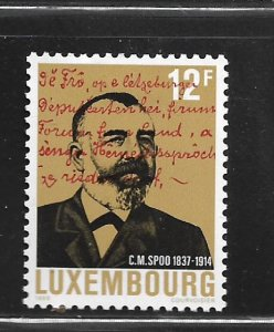 LUXEMBOURG,798, MINT HINGED, C.M. SPOO