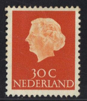 Netherlands 1953   used Juliana 30 ct  #