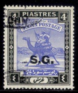 SUDAN GVI SG O39c, 4p ultramarine & black, FINE USED.