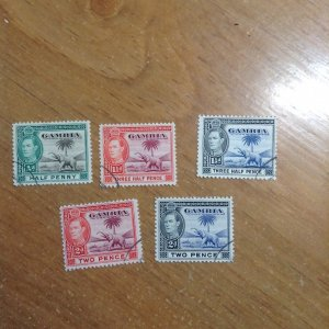 Gambia  # 132/34-35A  Used