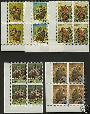Benin 755-9 BL Blocks MNH Primates, Monkeys