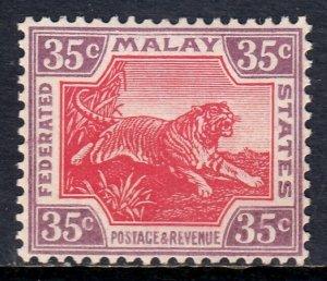 MALAYA FED. ST. — SCOTT 70 (SG 73) — 1931 35c TIGER — MNH — VF — SCV $17