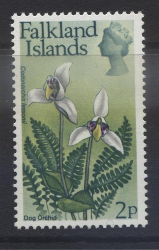 Falkland Is.-Scott 213 - Flowers-Dog Orchid - 1972 - MVLH -Single 2p Stamp