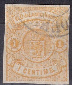 Luxembourg #4  F-VF Used  CV $450.00  Z1127