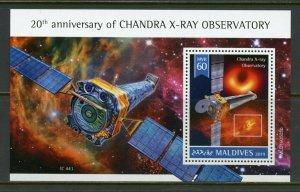 MALDIVES 2019  20th ANNIVERSARY OF CHANDRA X-RAY OBSERVATORY S/SHEET   MINT NH