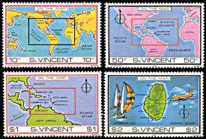 Saint Vincent 611-614, MNH, Location of Saint Vincent