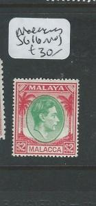 MALAYA MALACCA (PP0710B) $2.00   KGVI  SG 16  MOG