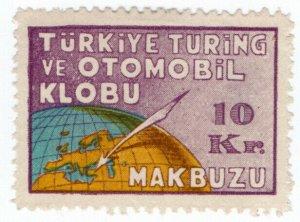 (I.B) Turkey Cinderella : Touring Car Club Receipt 10kr
