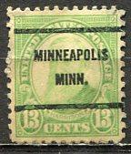 U.S.A.; 1931; Sc. # 694;  O/Used Pre-Cancel. Perf. 11x10 1/2 Single Stamp