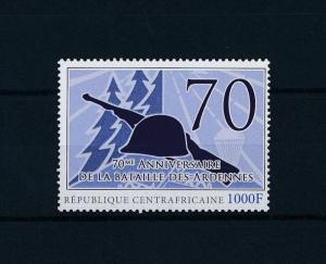 [80832] Central African Republic 2011 WW2 Ardennes offensive Belgium MNH