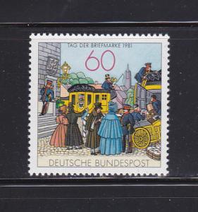 Germany 1361 Set MNH Stamp Day, Mailcoach (A)