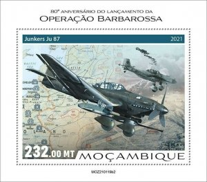 Mozambique 2021 MNH Military Stamps WWII WW2 Operation Barbarossa 1v S/S II