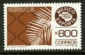 MEXICO Exporta 1499 $800P Construct Mats Fosfo Paper 10 MINT, NH. VF.