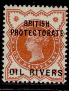 NIGERIA - Niger Coast Protectorate QV SG1, ½d vermilion, LH MINT. Cat £21.