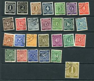 Germany 1946 Mi 911-937  Used CV 75 Euro