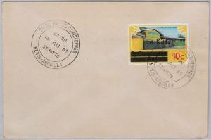 ST KITTS  -  POSTAL HISTORY - COVER with nice postmark: CAYON - 1981