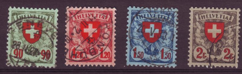 J12653 JLstamps 1924 switzerland set 4 used #200-3 cross $21.25 scv