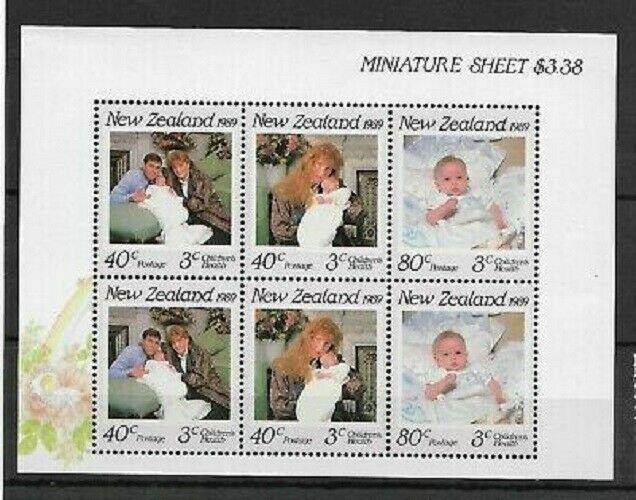 1989 NEW ZEALAND - SG: MS 1519 - HEALTH - ROYAL BIRTH - UNMOUNTED MINT