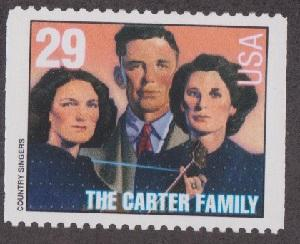 2776 Carter Family F-VF MNH single from booklet