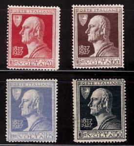 Italy Scott 188-191 MH* 1927 Alessandro Volta set  CV $19.75