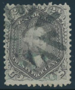 #78 24c F-VF WITH FANCY CIRCLE OF V's CANCEL CV $350 AU896
