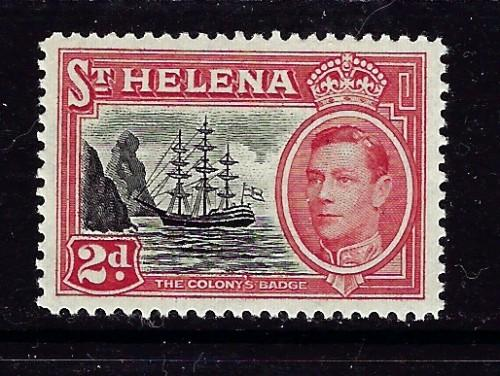 St Helena 138 Lightly Hinged 1949 Badge of the Colony