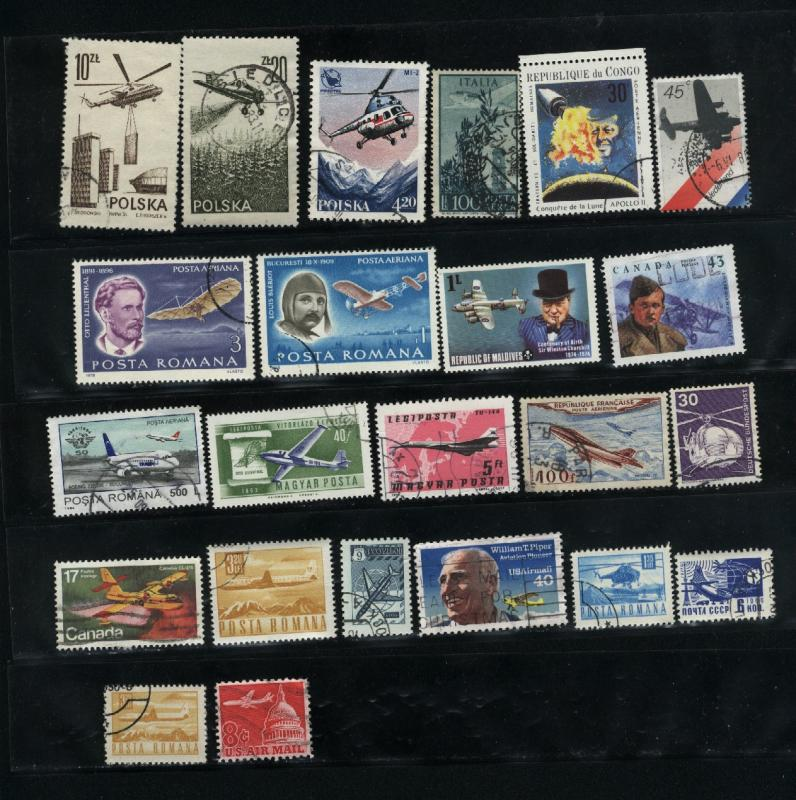 Planes 23 different  Mint & used  PD