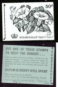 Great Britain BK143-50p complete NH booklet #1-British Flowers-Feb 1971-