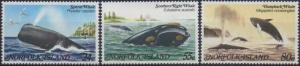 Norfolk Island 1982 SG284-286 Whales set MNH