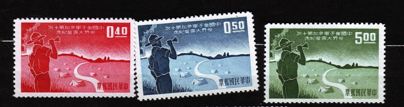 J22926 JLstamps 1959 china set issued mng mh #1232-4 boy scouts