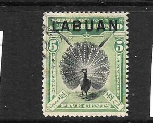 LABUAN  1897-01  5c  PICTORIAL  FU  P14 1/2-15  SG 92A
